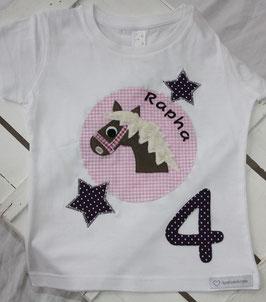 ❤️  Geburtstagsshirt Pferd - lila/rosa - Modell 3 T-Shirt