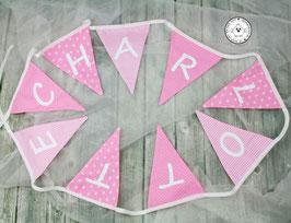 ❤️ Wimpelkette rosa