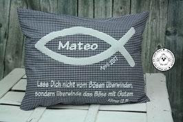❤️ Kissen Christenfisch 30x40 cm dunkelblau - Modell 1