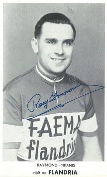 IMPANIS RAYMOND, Genuine Hand Signed Autograph, Card 10x14cm