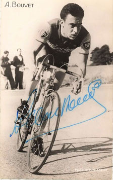 BOUVET ALBERT, Genuine Hand Signed Autograph Photo 8x13,5cm, WINNER PARIS-TOURS