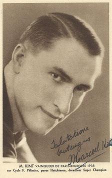 KINT MARCEL, Genuine Hand Signed Autograph Card 9x14cm, WORLD CHAMPION 1938