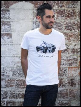 """Tee Shirt Homme """"Le repos de l'oiseau"""""""