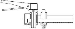 Anstechkugelhahn für Zapflochklappe Gr. 37 V2A