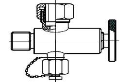 Standglasventil mit VA-Handrad
