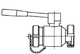 Kugelhahn V2A Mt x Vt mit Kappe und Kette