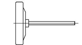 Thermometer NG63 für Schutzrohr