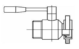 Kugelhahn V2A Mt x Vt (Kegel-Mutter x Gewinde)
