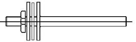 Schutzrohr 100mm + Übersetzung für Thermometer VA