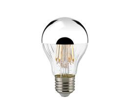 LED Kopfspiegellampe Filament, Silber, E27, Dimmbar