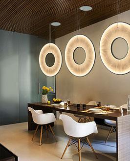 IRIS vertikale Pendelleuchte LED - Designer Fabrice Berrux - dix heures dix