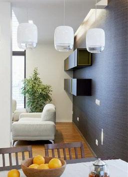 Prandina LED-Pendelleuchte GONG S1 dreifach linear - Design R&D Studio