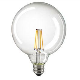 LED Globelampe Filament 2700 K, E27, 125mm, Dimmbar, Klar