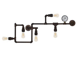 Wandleuchte rustikal mit Wasserdruckanzeige