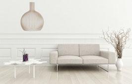 Woodi - rund in Natur, weiß, schwarz
