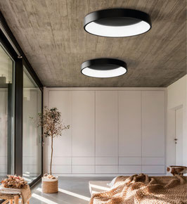 LED-Deckenleuchte Dillan indirekt / 3000 K, dimmbar, schwarz und weiß