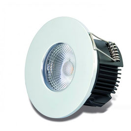 DOTLUX LED-Einbauleuchte MULTIsun 8W, 2000-2800K, Dimm to warm, IP65, chrom