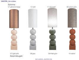 Bilba Pastell dreifach mit langem Schirm - Tischleuchten - envy lighting