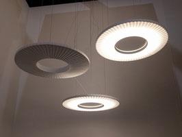 Set 2 - IRIS horizontale Pendelleuchten LED - Designer Fabrice Berrux - dix heures dix