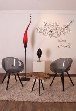 DUBAI Stehleuchte - Tropfen ca. 100cmx15cm in rot von Karl Schmid
