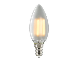 LED Kerzenlampe, E14, Filament, Dimmbar, Matt Opal