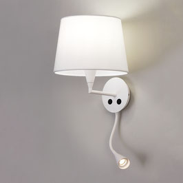 Wandleuchte LINA mit LED-Leselampe