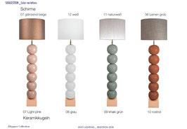 Bilba Pastell sechsfach mit kurzem Schirm - Stehleuchten - envy lighting