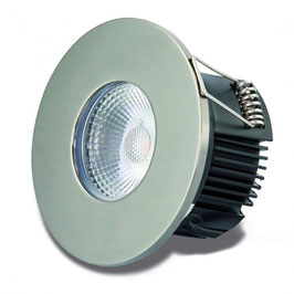 DOTLUX LED-Einbauleuchte MULTIsun 8W, 2000-2800K, Dimm to warm, IP65, Nickel satiniert