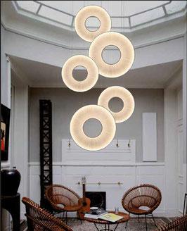 Set 1 - 5 x IRIS vertikale LED-Pendelleuchten - Designer Fabrice Berrux - dix heures dix