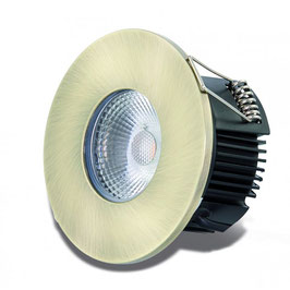 DOTLUX LED-Einbauleuchte MULTIsun 8W, 2000-2800K, Dimm to warm, IP65, Messing antik