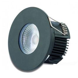 DOTLUX LED-Einbauleuchte MULTIsun 8W 2000-2800K Sunset dimming rund schwarz matt