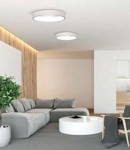LED-Deckenleuchte Dillan indirekt / 3000 K, nicht dimmbar, schwarz und weiß