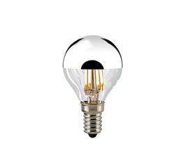 LED Filament Kopfspiegellampe, Silber, E14, Dimmbar
