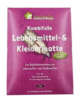 Lebens- & Kleidermotten - Kombinationspheromonfalle zur Befallskontrolle  -2 Stk.