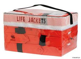 PVC Behälter für 4 Stk. Rettungswesten