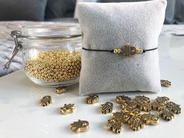 "Perlenarmband ""Hamsa Gold"""