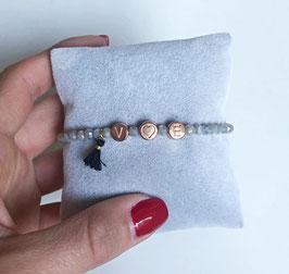 "Personalisiertes Armband ""Rosé Letter 2.0"""