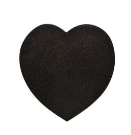 Herz Hochformat Indian Black