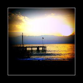 """Gerahmtes Bild """"Morgenstimmung an der Küste Lykiens"""""""