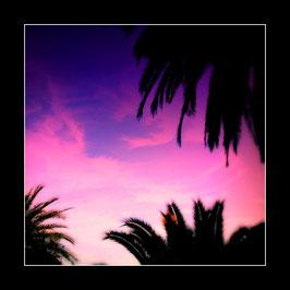 "Gerahmtes Bild ""Sommerabend an der Côte d'Azur"""