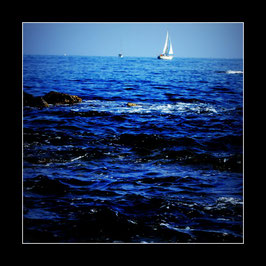 """Gerahmtes Bild """"An der Küste von Saint Tropez"""""""