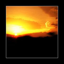 "Gerahmtes Bild ""Goldener Abend in Antalya"""