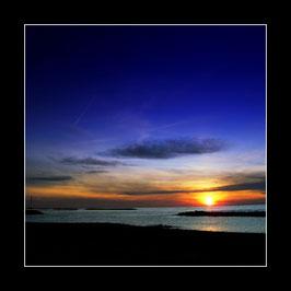 "Gerahmtes Bild ""Sonnenuntergang in Ostende"""