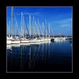 """Gerahmtes Bild """"Im Hafen von Saint Tropez"""""""