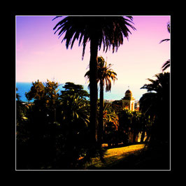 "Gerahtmes Bild ""Blick aufs Meer vor San Remo"""