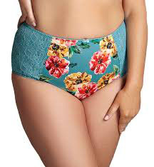 Chi Chi Turquoise Floral Brief