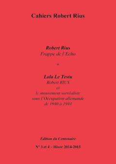 Cahiers Robert Rius, n° 3-4