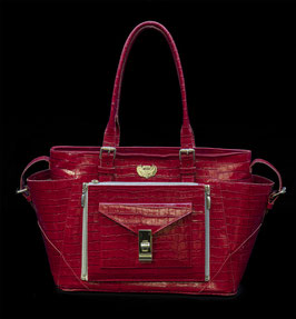 """STYLE """"KROKO LACK"""" IN ROT -STYLE """"CROCO VARNISH"""" IN RED"""
