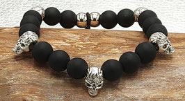 Armband Scull & Pearls