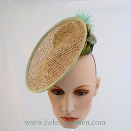 Saucer Fascinator Seagrass